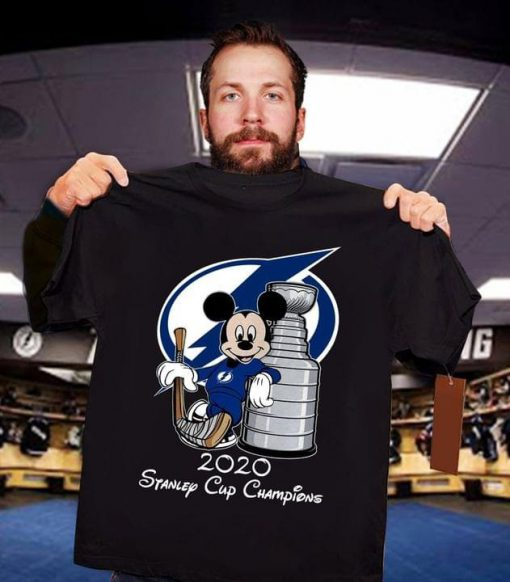 Tampa Bay Lightning Stanley Cup Champions Mickey Mouse shirt