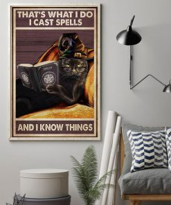 That's what I do I cast spells and I know things Witch Cat poster 2