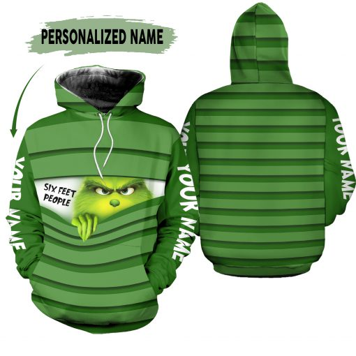 The Grinch Six People personalized 3D hoodie
