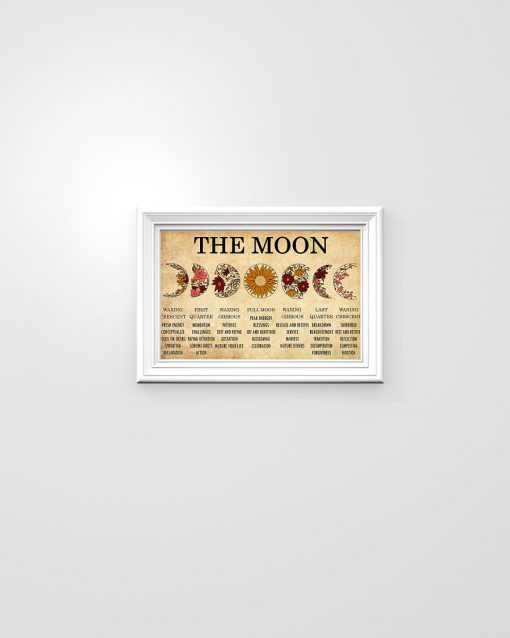 The Moon Waxing Crescent First Quarter Waxing Gibbous Poster 1
