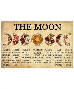 The Moon Waxing Crescent First Quarter Waxing Gibbous Poster