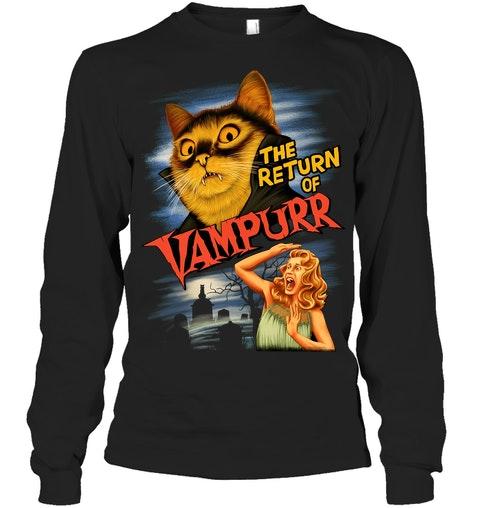 The return of Vampurr Cat long sleeve