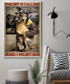 The sky is calling and I must go Kangaroo Pilot poster 1