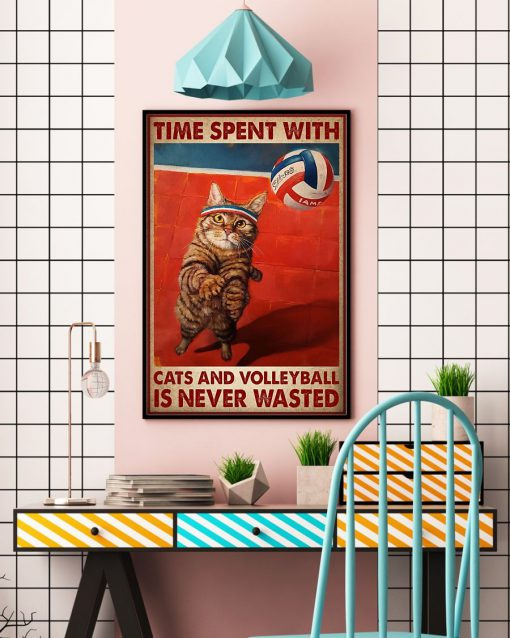 Time spent with cats and volleyball is never wasted poster3