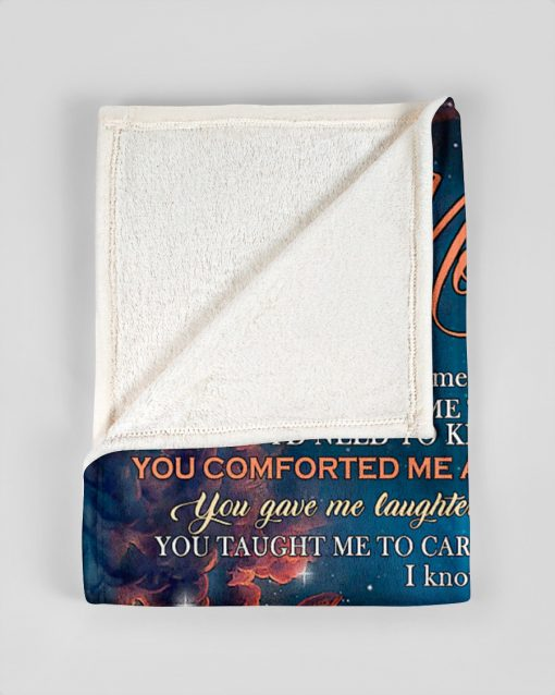 To My Mom You gave me love and watched me grow you taught me things wolf fleece blanket3