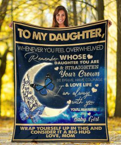 To my daughter I love you to the moon and back Wrap yourself up in this and consider it a big hug fleece blanket 3