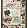 To my daughter I never knew how much love my heart could hold until someone told me and be always remember how much I love you Mom fleece blanket