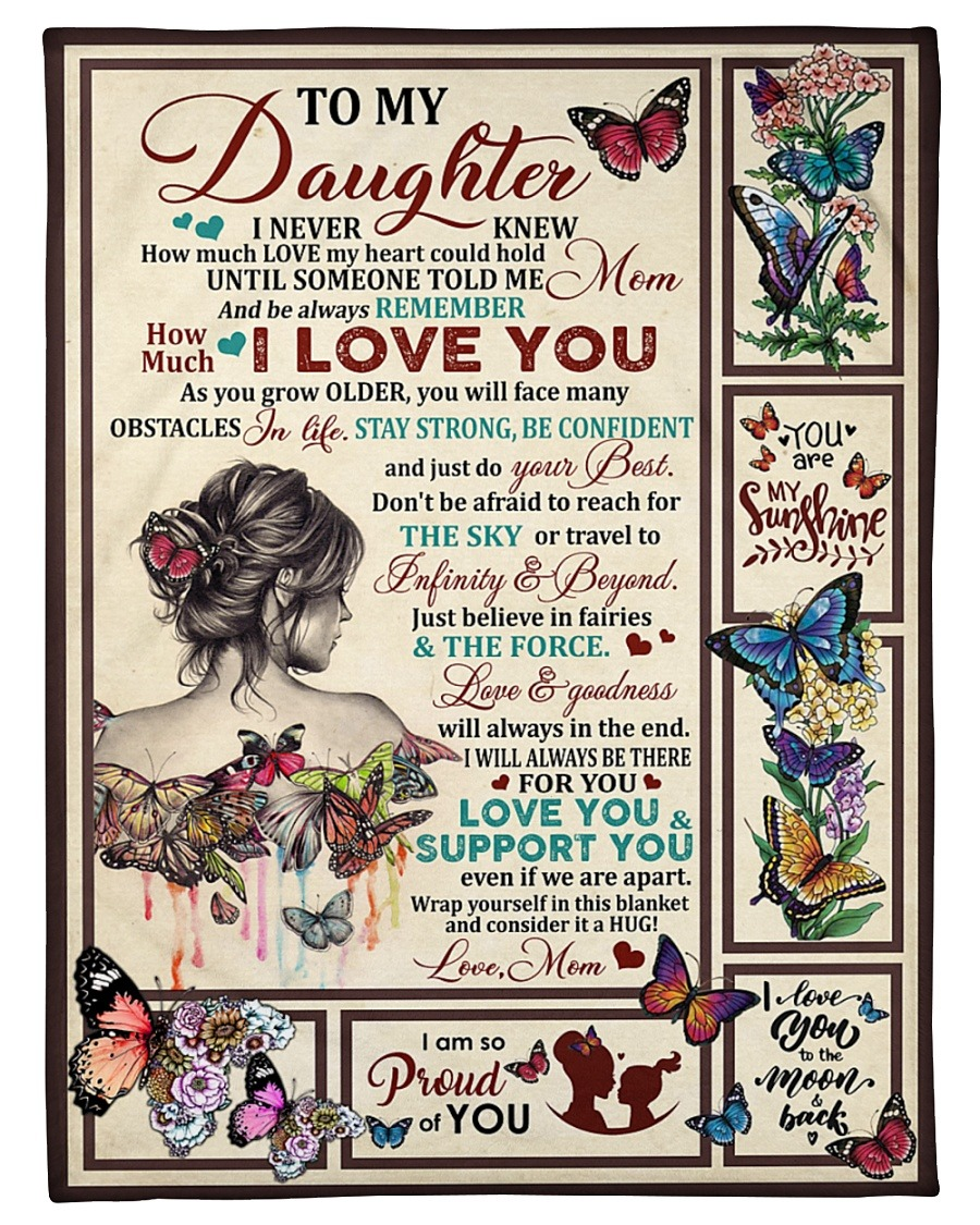 Rose To my daughter Always Remember You Are Fleece Blanket Made in US