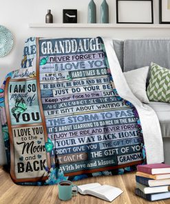 To my granddaughter Never forget that I love you life is filled with hard times and good time Butterfly fleece blanket2
