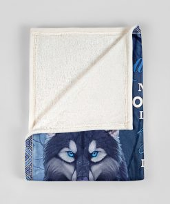 To my granddaughter Never forget that I love you life is filled with hard times and good time Wolf Grandma fleece blanket4