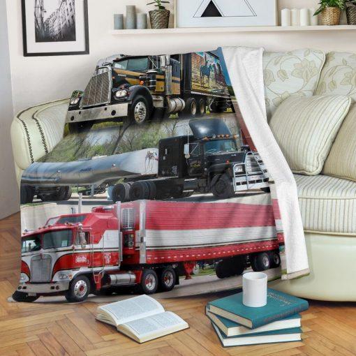 Truck drivers fleece blanket