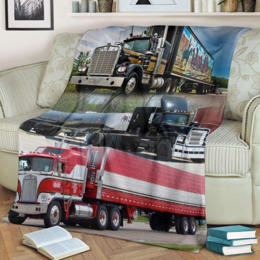 Truck drivers fleece blanket1
