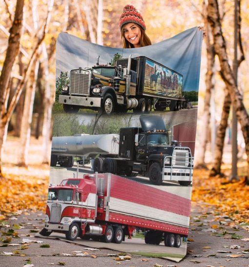 Truck drivers fleece blanket3