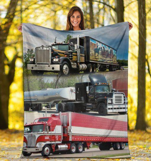Truck drivers fleece blanket4