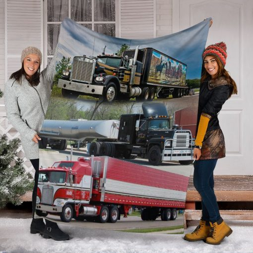 Truck drivers fleece blanket5