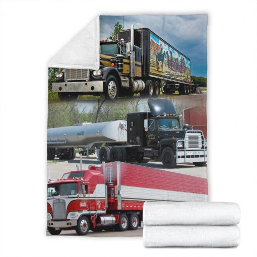 Truck drivers fleece blanket6