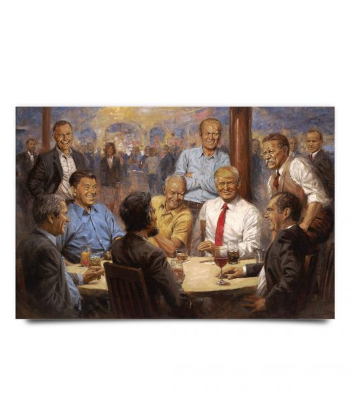 Trump painting presidents poster