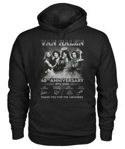 Van Halen 48th Anniversary 1972-2020 Thank you for the memories hoodie