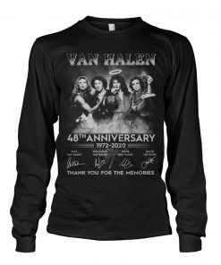 Van Halen 48th Anniversary 1972-2020 Thank you for the memories long sleeve