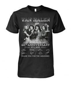 Van Halen 48th Anniversary 1972-2020 Thank you for the memories shirt