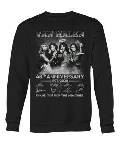 Van Halen 48th Anniversary 1972-2020 Thank you for the memories sweatshirt