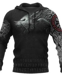 Viking Fenrir 3D All Over Print Hoodie