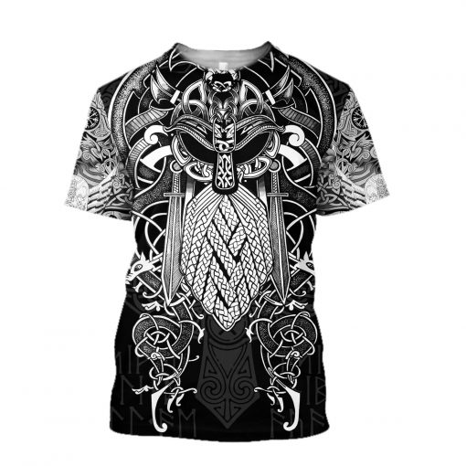 Vikings - Odin Tattoo Style 3D All Over Print shirt
