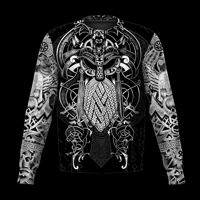 Vikings - Odin Tattoo Style 3D All Over Print sweatshirt
