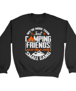 We are More Than Just Camping Friends We are Like A Really Small Gang Sweatshirt
