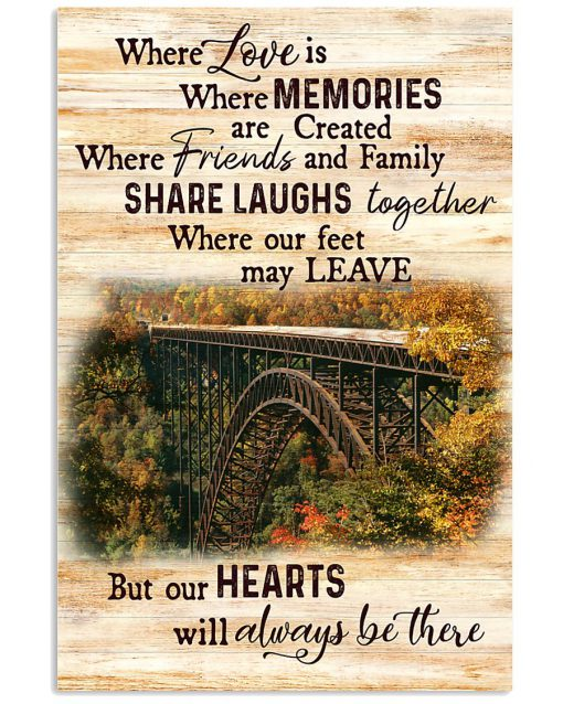 West Virginia Where love is where memories are created where friends and family share laughs together where our feet may leave poster 1