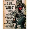 While on this ride called life you have to take the good with the bad smile when you're sad love what you had Biker poster