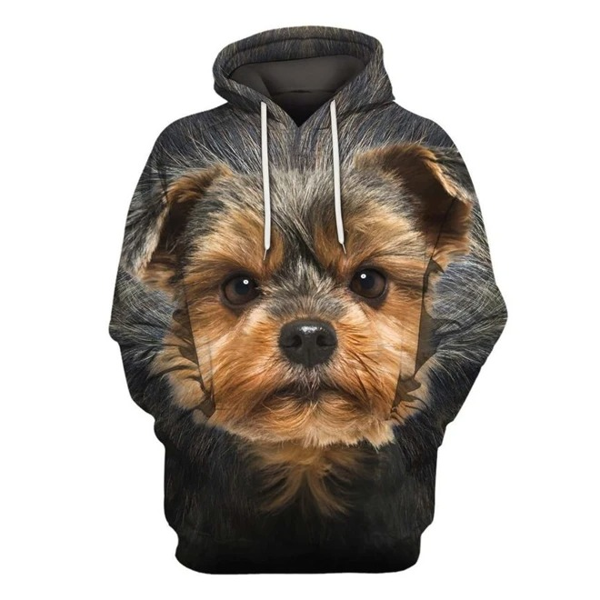 Yorkshire Terrier Dog 3D All Over Printed Hoodie