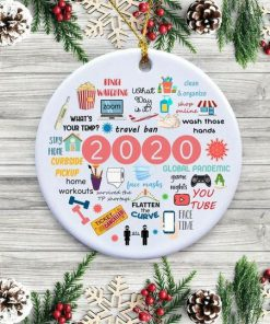 2020 Annual Events Stay Home Binge-watching zoom Christmas Ornament2