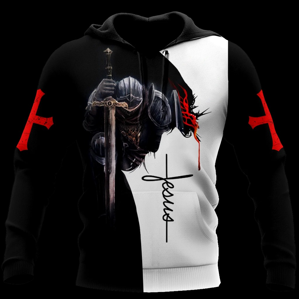 A child of God a man of faith a warrior of Christ 3D hoodie