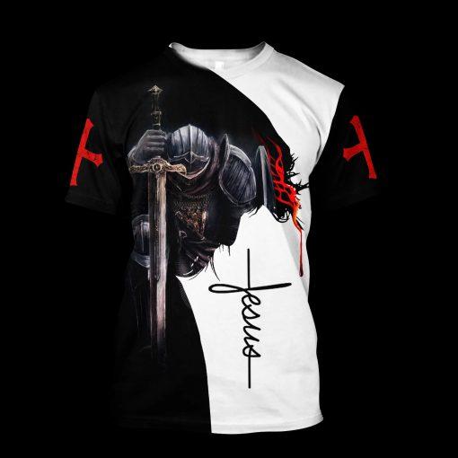 A child of God a man of faith a warrior of Christ 3D shirt