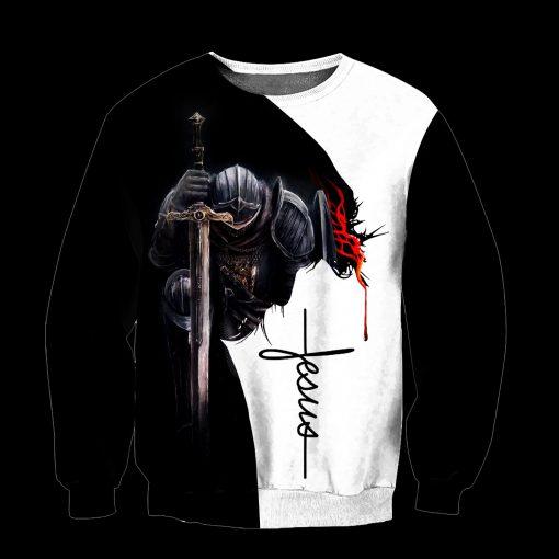 A child of God a man of faith a warrior of Christ 3D sweatshirt
