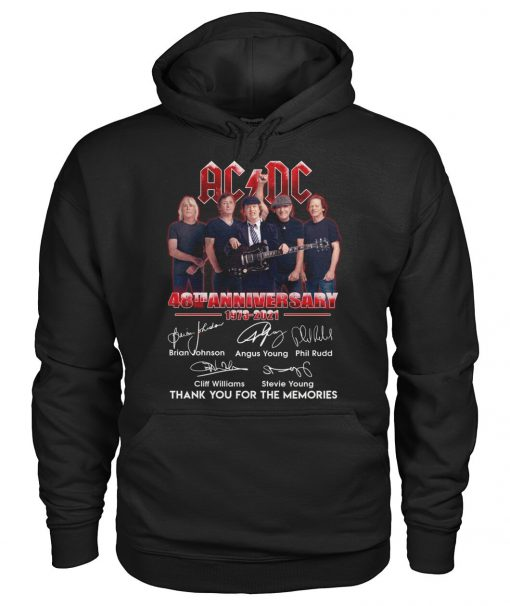 AC DC 48th Anniversary 1973-2021 Hoodie