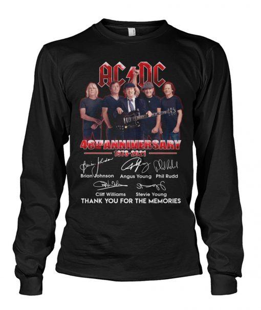 AC DC 48th Anniversary 1973-2021 Long sleeve