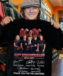 AC DC 48th Anniversary 1973-2021 shirt