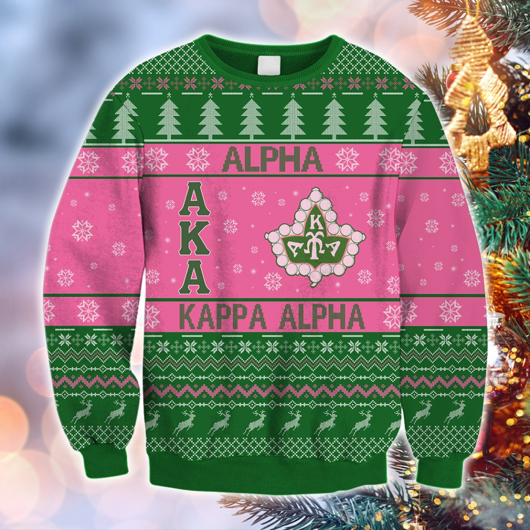 AKA Alpha kappa alpha christmas 3D sweatshirt