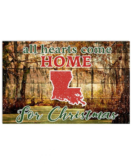 All hearts come home for Christmas Louisiana Poster