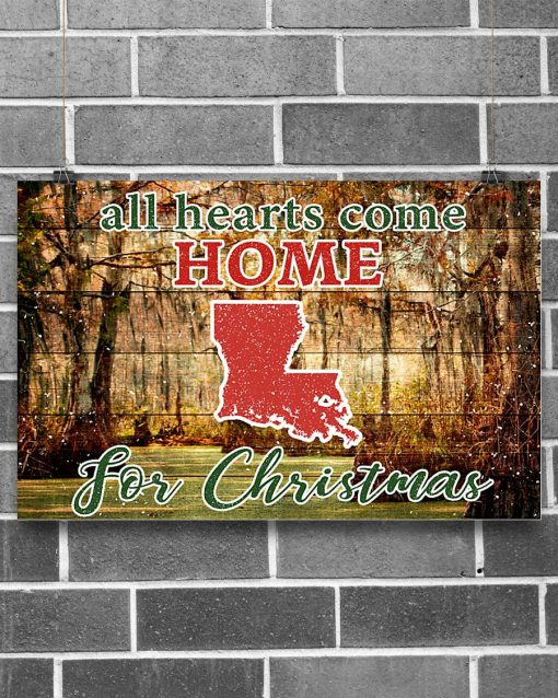 All hearts come home for Christmas Louisiana Poster1