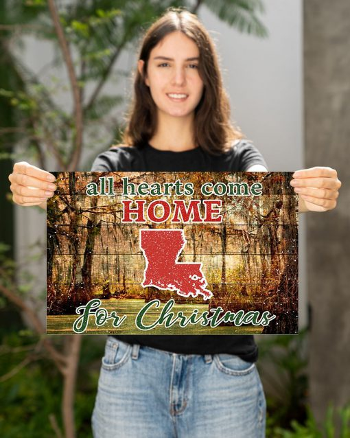 All hearts come home for Christmas Louisiana Poster2
