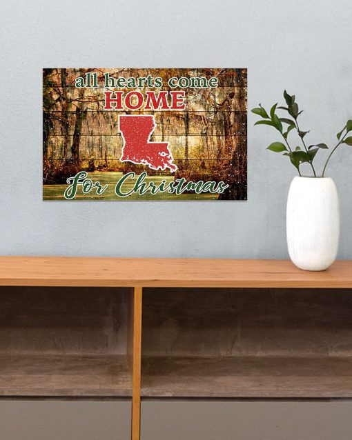 All hearts come home for Christmas Louisiana Poster3