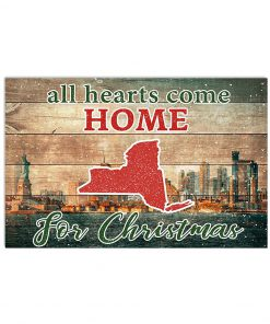 All hearts come home for Christmas New York Poster