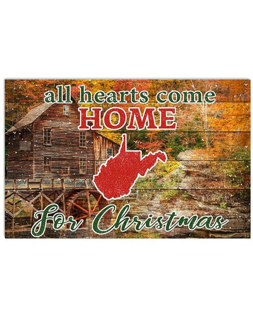 All hearts come home for Christmas West Virginia Poster