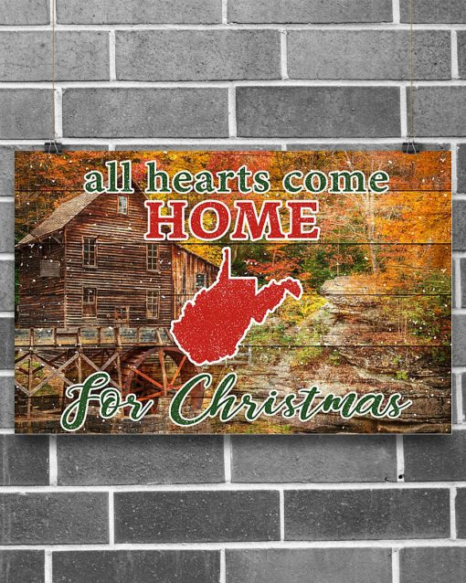 All hearts come home for Christmas West Virginia Poster1