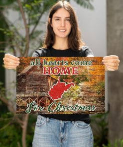 All hearts come home for Christmas West Virginia Poster2