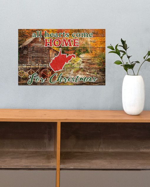 All hearts come home for Christmas West Virginia Poster3