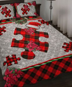 Autism Christmas Faux Glitter Print Bedding Sets